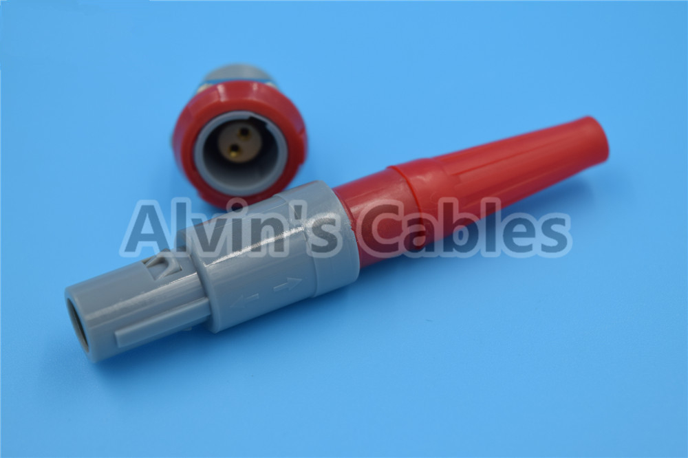 2 Pin LEMO Connectors PAG / PLG Plastic Connector Circular Plastic Plug Connector Self Locking Power Connector